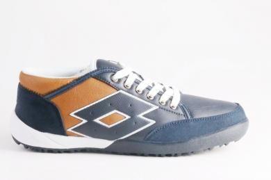 Lotto - Erkek Lacivert Mikrofiber Deri Bağcıklı Spor Ayakkabı