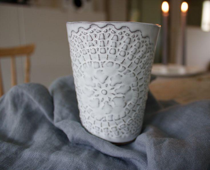 Petra Lunds Lera - ETHNIC keramik mugg grålera