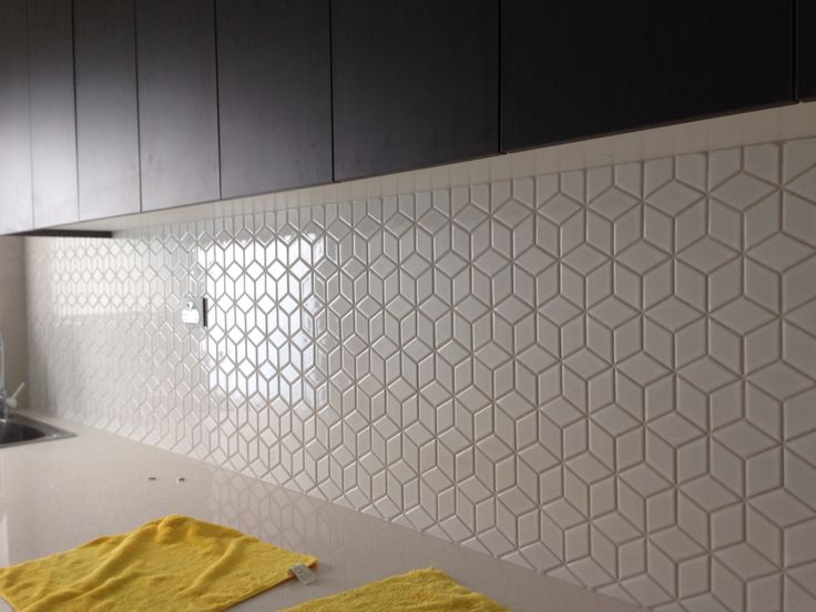 Image result for rhombus tile kitchen backsplash