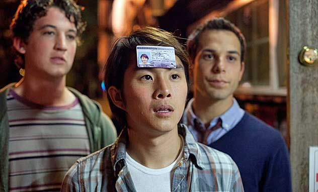 """""""21 and Over"""" is what would have happened if The Hangover met Project X on a college campus and tossed all sense of direction, not to mention political correctness, to the wind. It's dumb, it's gross, it's implausible—but as far as booze-chugging comedies go, we've seen much, much worse."""