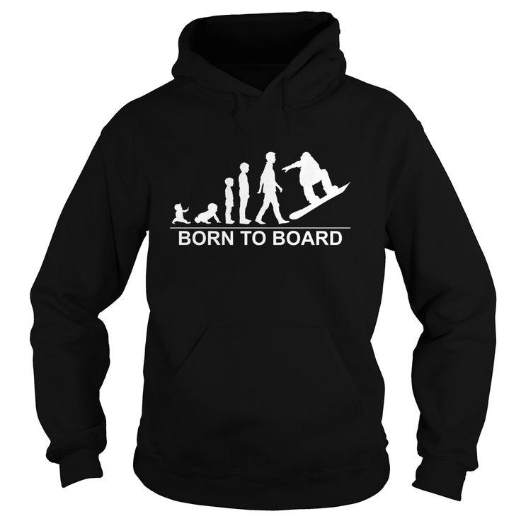 Born To Board - Snowboard T-Shirt