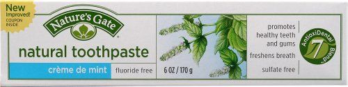#Nature's #Gate Oral Care Creme de Mint Natural Toothpaste Cremes Fluoride-Free 6 oz. tubes (a)