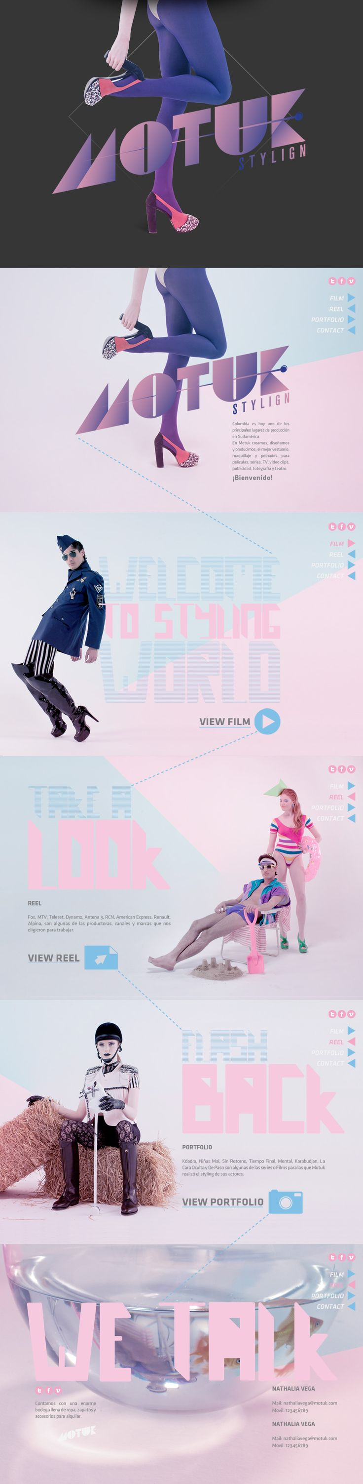 Motuk. Harmonic tone, stylish design. #webdesign (View more at www.aldenchong.com)