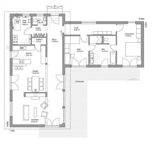 Grundriss bungalow l-form  154 besten Häuser Bilder auf Pinterest | Grundrisse, Architektur ...
