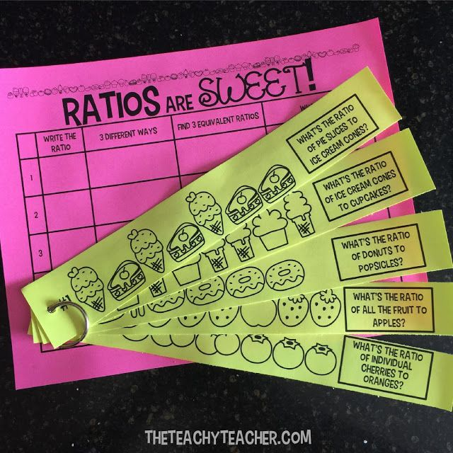 FREE Ratio Activity (GREAT center or station idea) and other suggestions. Perfect for Finding ratios, writing ratios, finding equivalent ratios, and setting up proportions.