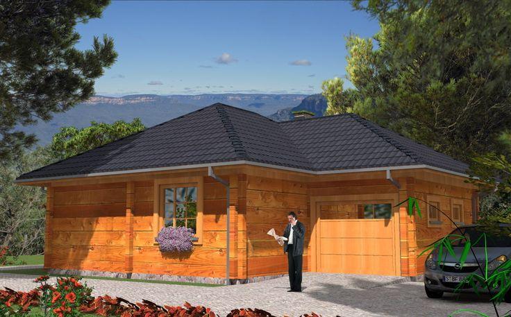 Projekt domu MD L-126 bale - DOM MD3-19 - gotowy projekt domu