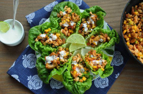 Tacos de Alface Romana