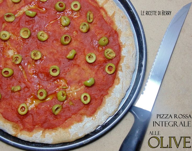 Pizza Integrale alle Olive