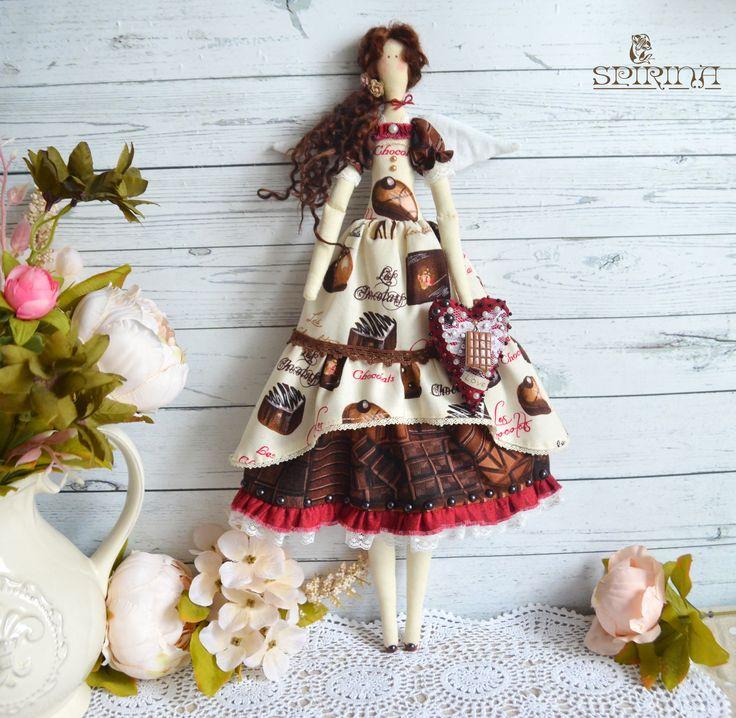 "53,00 US$ Tilda Doll - Fairy chocolate Tilda - Tilda Dolls  Size: 44 cm (17"")"