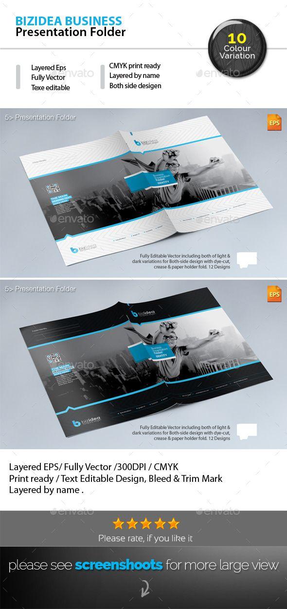 BizIdea Presentation Folder - Stationery Print Templates