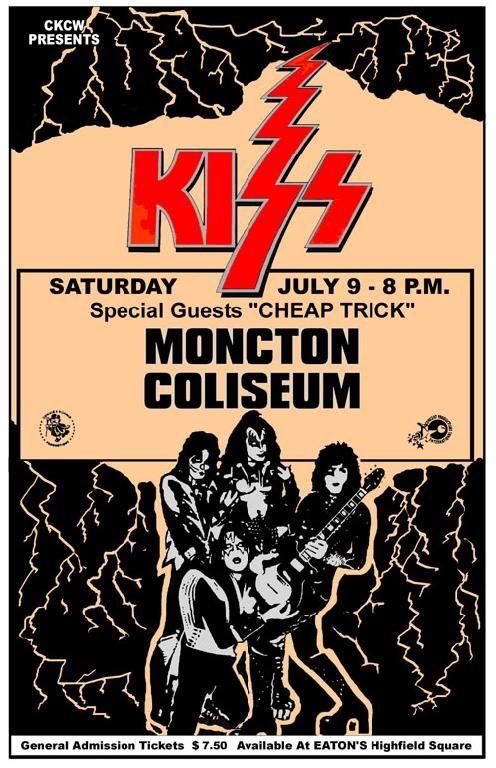 KISS Concert Poster https://www.facebook.com/FromTheWaybackMachine
