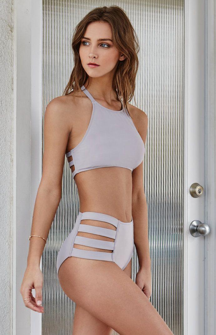 Strappy Side High Waisted Bikini Bottom
