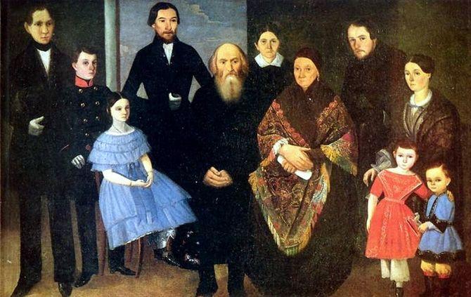 Портрет купеческой семьи