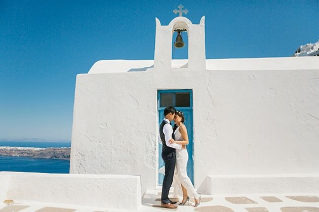 Pre and Post Wedding Shoot in Santorini. Santorini Wedding planner: Stella And Moscha
