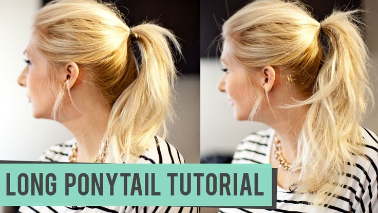 How to Fake a Longer Pony Tail for Medium to Long Length Hair