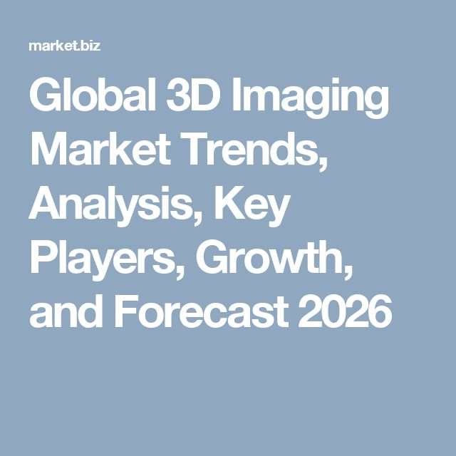 Global 3D Imaging Market Trends, Analysis, Key Players, Growth, and Forecast 2026