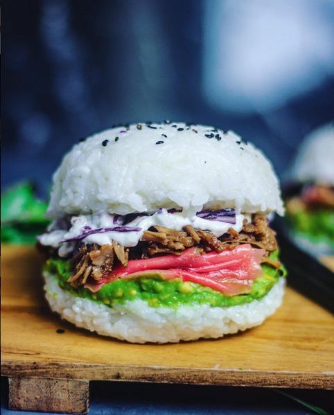 Vegan Sushi Burgers - This Alternative Burger Recipe is Made with Traditional Sushi Ingredients