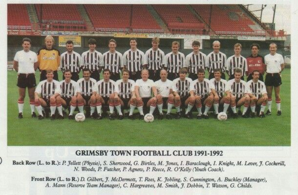 Grimsby Town team group for 1991-92.