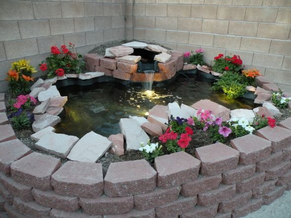 Koi pond few weekends of work and we built this above for How to build a koi pond above ground