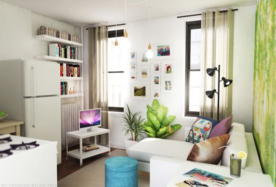 Tiny studio apartment decoration | My Paradissi ©Eleni Psyllaki
