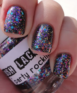 Lush Lacquer Party Rockin': Lacquer Parties, Parties Rocks, Boris Glitter, Parties Rockin, Glitter Polish, Nails Polish, Lush Lacquer, Lacquer Party'S, Party'S Rockin