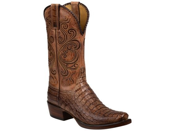 Lucchese Men's Cowboy Boots | Bodie | Hornback Caiman Crocodile in Tan #LuccheseBoots www.lucchese.com