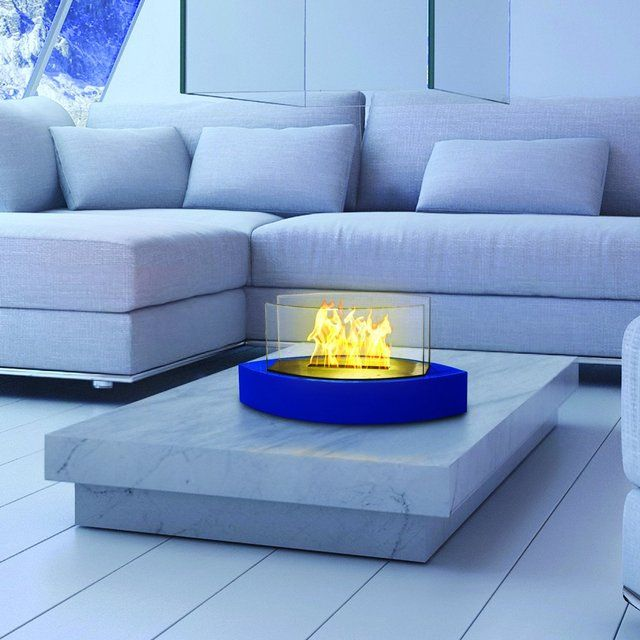 Blue Lexington Tabletop Bio-ethanol Fireplace by Anywhere Fireplace - $170
