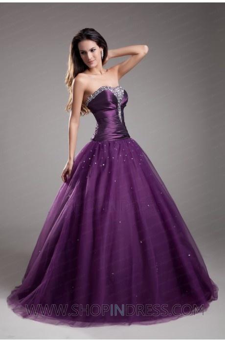 Vestido violeta para tus 15