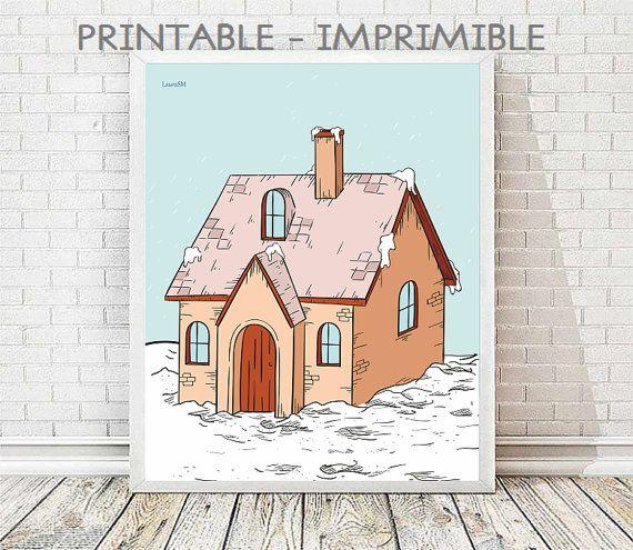 laminas decorativas, lamina casita, laminas casas, laminas infantiles, cuadro casas, cuadro infantil, laminas imprimibles