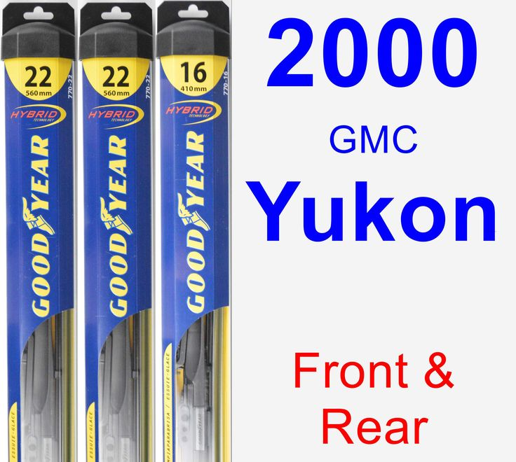 Front & Rear Wiper Blade Pack for 2000 GMC Yukon - Hybrid