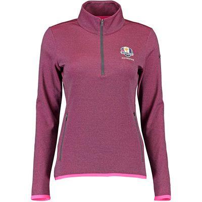 Women's Nike Pink 2016 Ryder Cup Thermal Half-Zip Performance Jacket