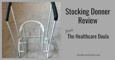 How to put on compression hose using a stocking donner