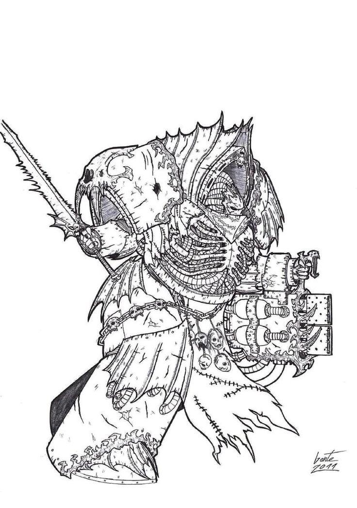 14 best Warhammer 40k Coloring images on Pinterest