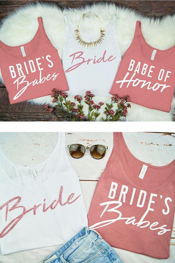 96a402f3d87 Bachelorette Party Tank Tops - Bachelorette Party Favors - Bride and Brides  Babes Tees - Bachelorette Party T-Shirts - Bridesmaids Gift - Bridal Shower  ...