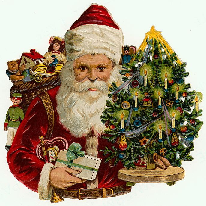 Lot Of 5 Vintage Christmas Decorations Kitsch Santa Claus: 2302 Best Images About Christmas Vintage Clip Art On Pinterest