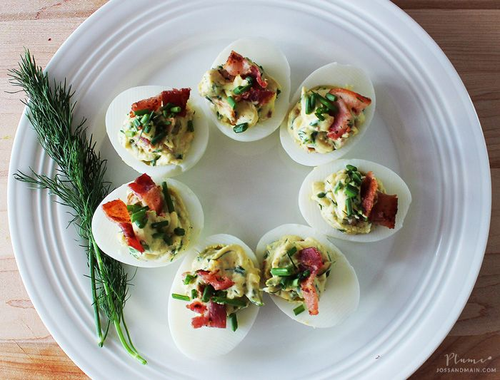 bacon/dill/chive/deviled eggs