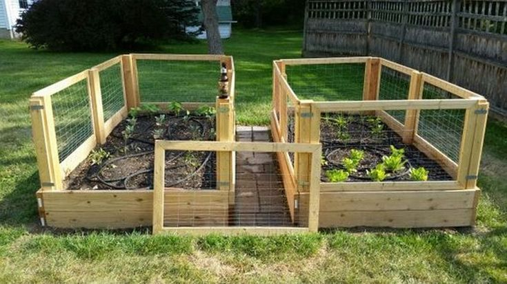 How To Make A Removable Raised Garden Bed Fence Garten Gartendekoration Gartenbett