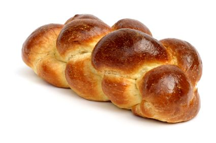 Although we like to traditionally celebrate Shabbat with white, keep it out of our Challah!  Ask your local bakery to see if they can make you a loaf without any white (sugar, flour, etc). The more we demand, the more we see change. If you're taking on the task of baking your own, it's much easier to sub in  healthier ingredients, or you can follow Aviva Allen's recipe from her Organic Kosher Cookbook.