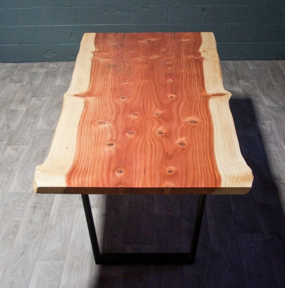 Beautiful Live Edge Wood Sequoia DINING TABLE By ElpisWorks