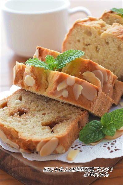 ホットケーキミックスで♪バナナとピーナツバターのパウンドケーキ ...
