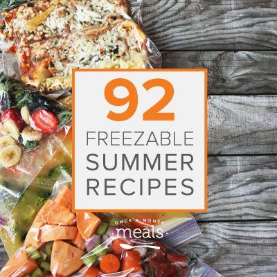 92 Summer Freezer Recipes