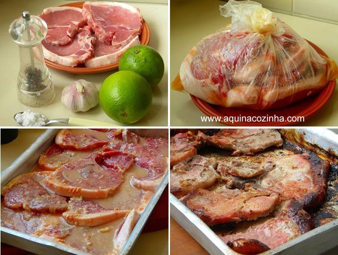 Bisteca de Porco no forno