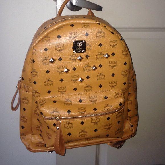 Mcm bookbag It Carmel color never worn brand new MCM Bags Backpacks