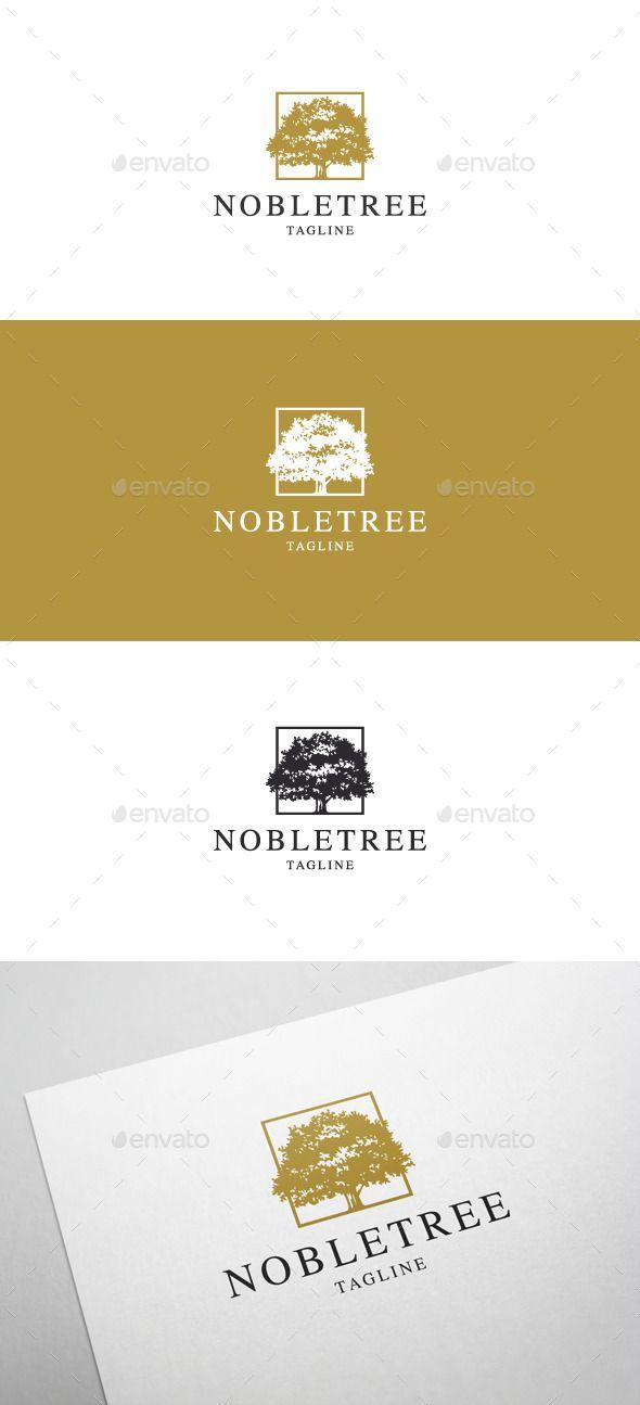 Noble Tree Logo Design Template Vector
