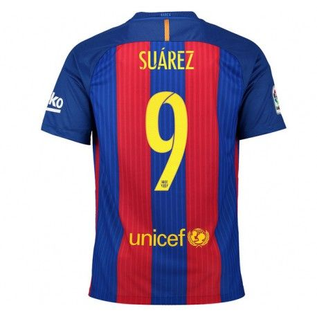 Camiseta de Suarez del FC Barcelona 2016 2017