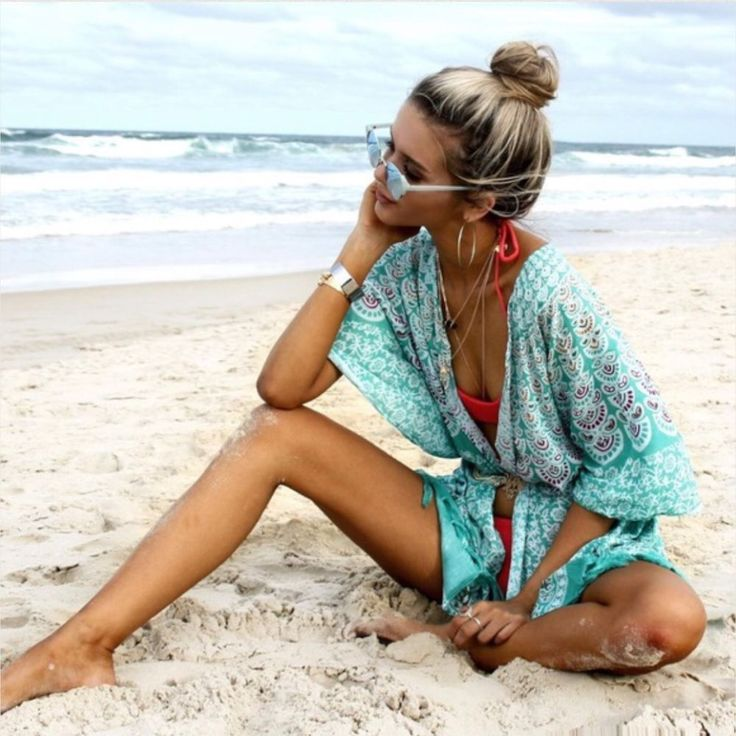 NEW | Boho Aqua Peacock Beach Kimono | OS | La Luna Gypsy  #Aqua #Kimono #Casual