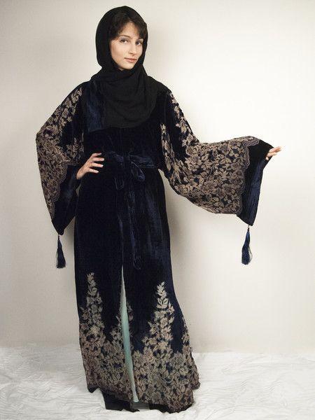 Velvet Evening Abaya from rawia.co