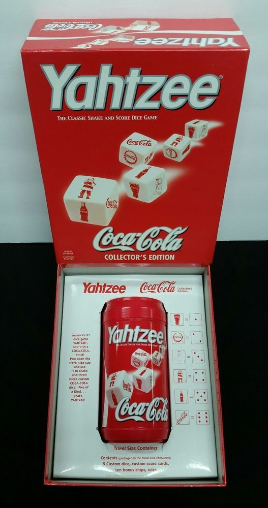 YAHTZEE COCA-COLA CAN COLLECTORS EDITION GAME INCLUDES TRAVEL SIZE CONTAINER #HasbroUSAPoly