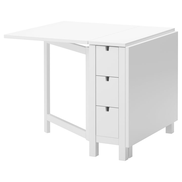 IKEA - NORDEN, Gateleg table, Table with drop-leaves seats 2-4; makes it possible to adjust the table size according to need.You can store for example cutlery, table napkins and candles in the 6 drawers under the table top.