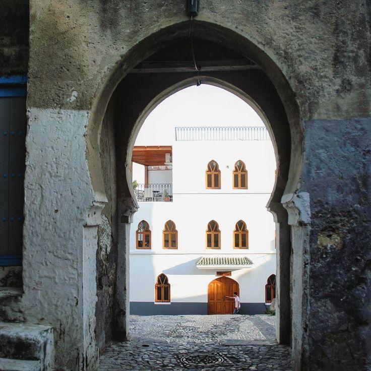 Entrance to the medina of tangier kasbah tanger morocco marokko